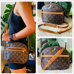 LOUIS VUITTON SENLIS crossbody bag Vtg round mono